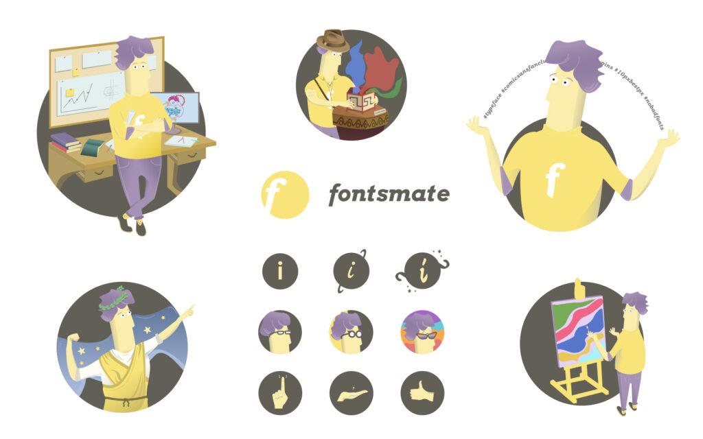 Fontsmate Projekt Graficzny
